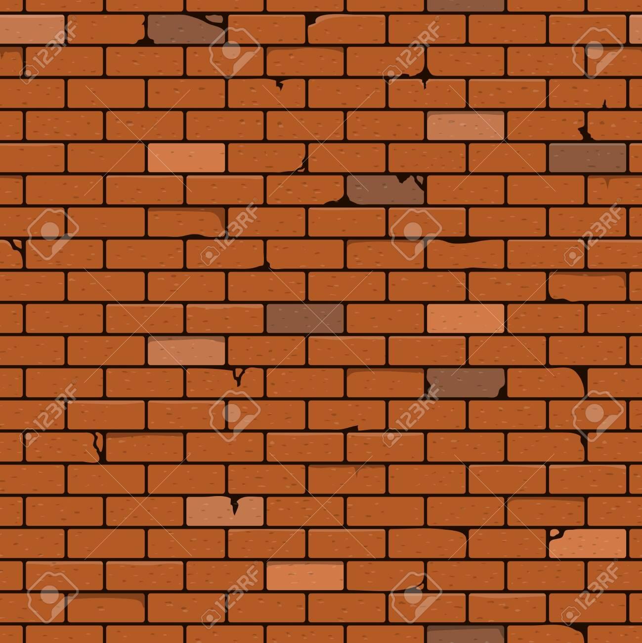 Brick Wall Seamless Pattern Background. Vector Illustration. - 149269238