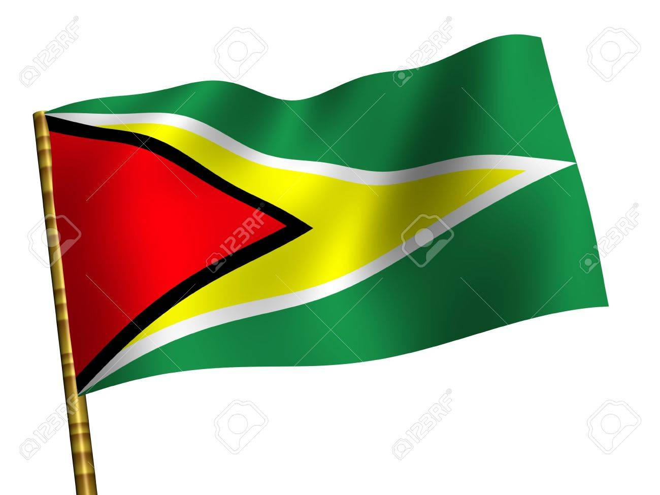 National Flag. Guyana Stock Photo - 3457138