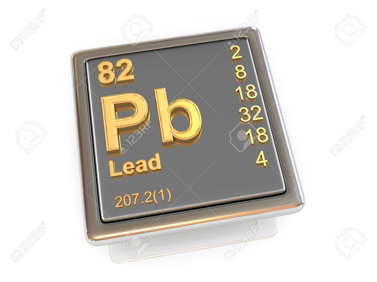 Lead Chemical Element 3d Stock Photo Picture And Royalty Free Image