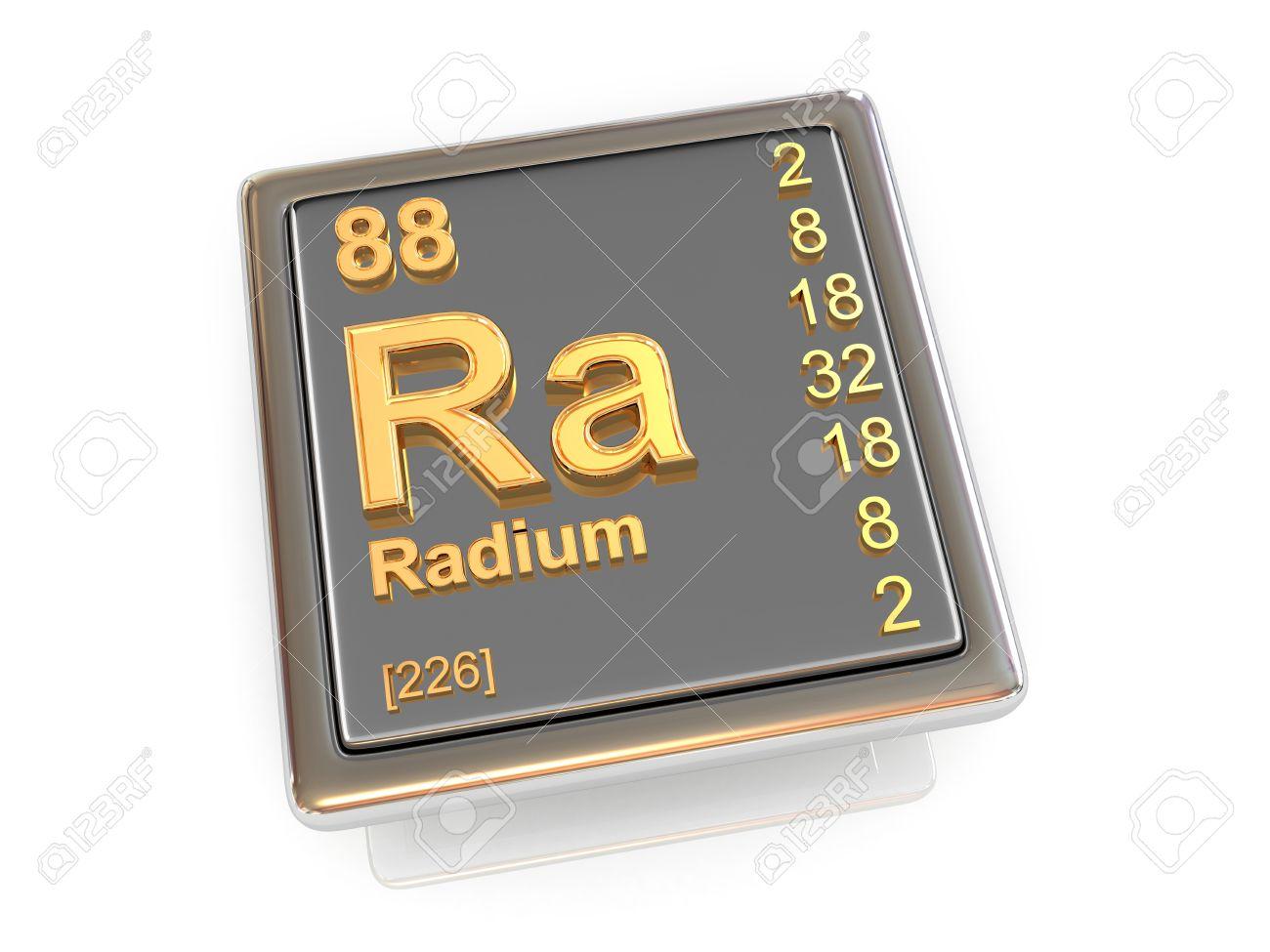 Radium  Chemical element  3d Stock Photo - 19825333