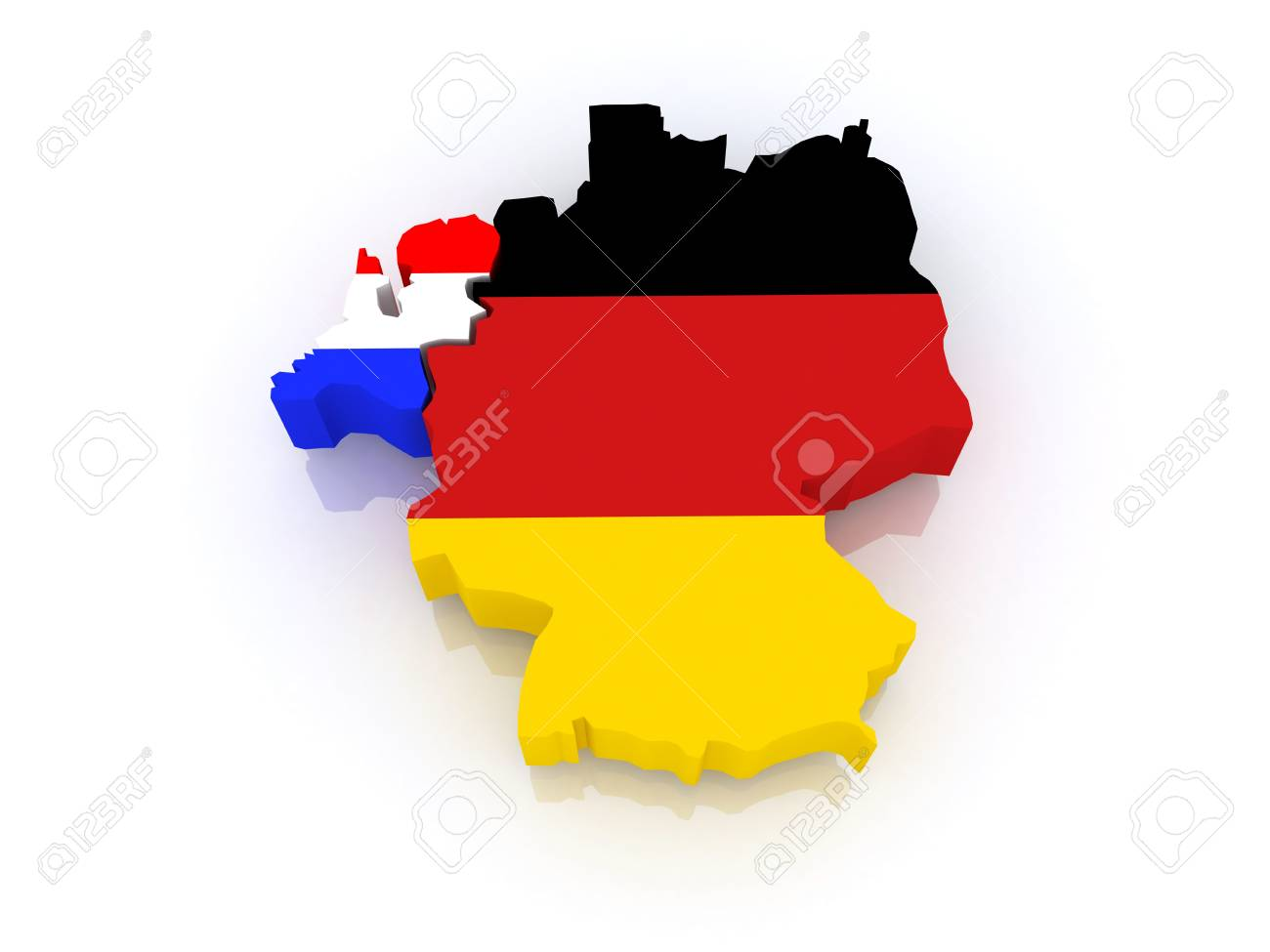 Map Of Germany And The Netherlands.Map Of Germany And The Netherlands 3d