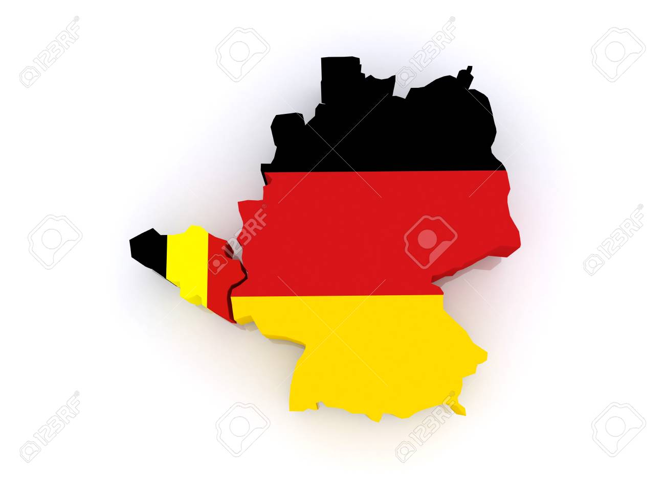 Map Of Belgium And Germany 3d Stock Photo Picture And Royalty Free Image Image 20702115