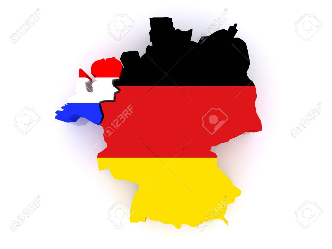 Map Of Germany And The Netherlands.Map Of Netherlands And Germany 3d