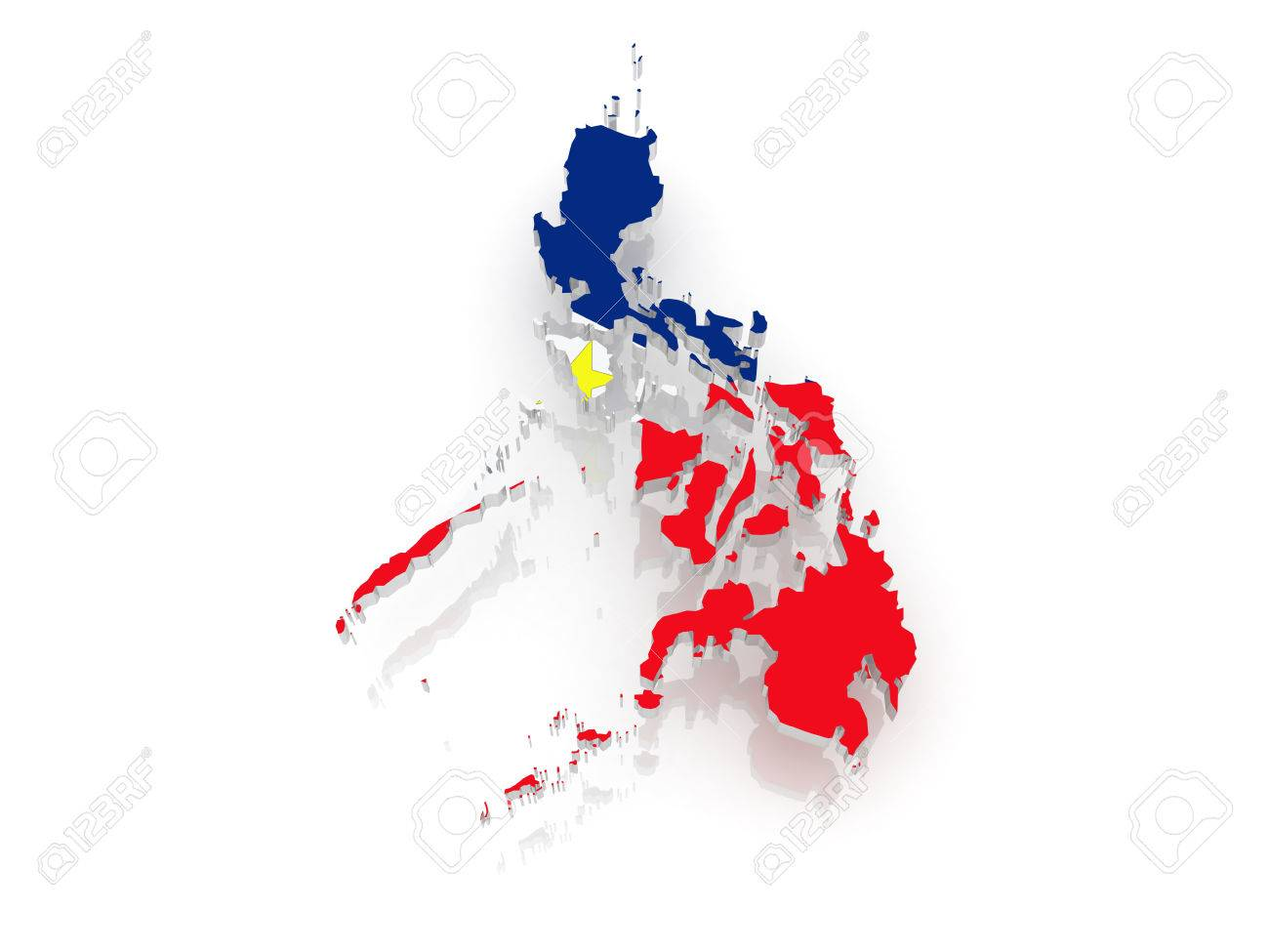 Map Of The Philippines 3D Map Of Philippines. 3d Stock Photo, Picture And Royalty Free Image