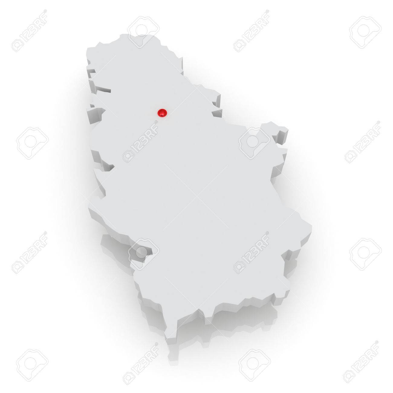 Map Of Serbia D Stock Photo Picture And Royalty Free Image - Map of serbia
