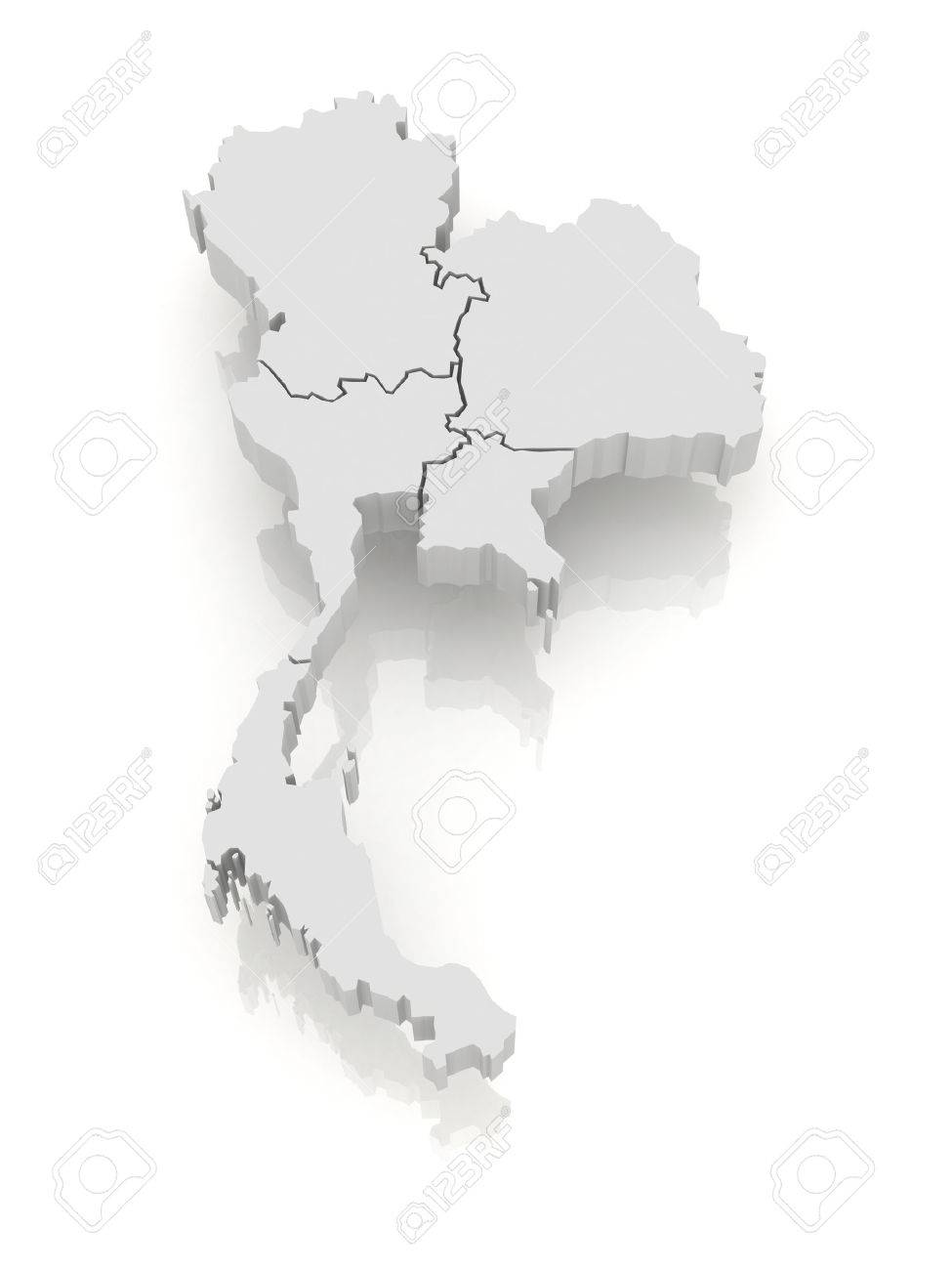 Thailand Map Free Vector Art 2669 Free Downloads Map Of Thailand