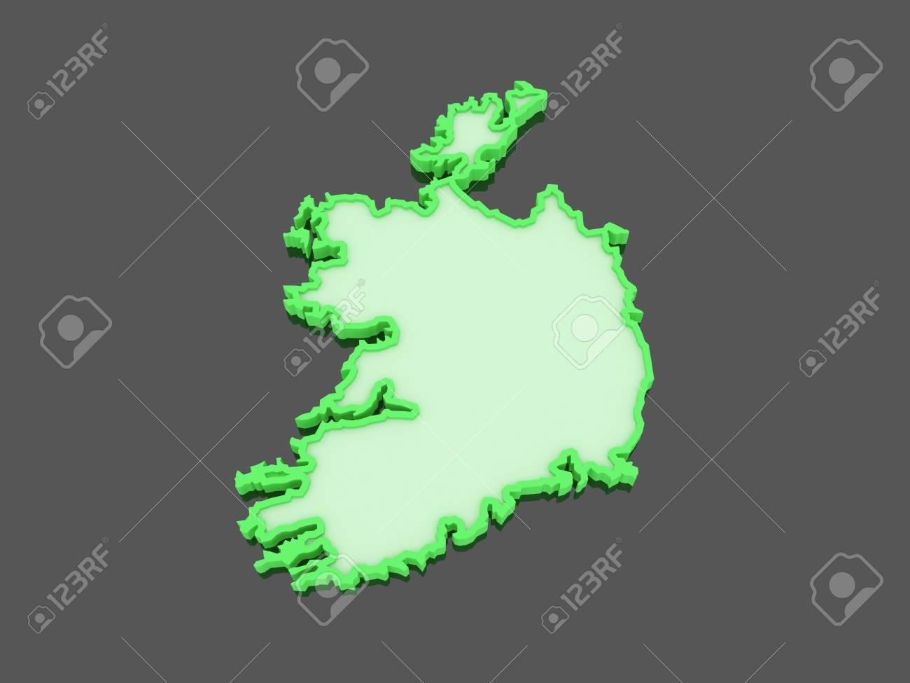 Map Of Ireland 3d.Map Of Ireland 3d