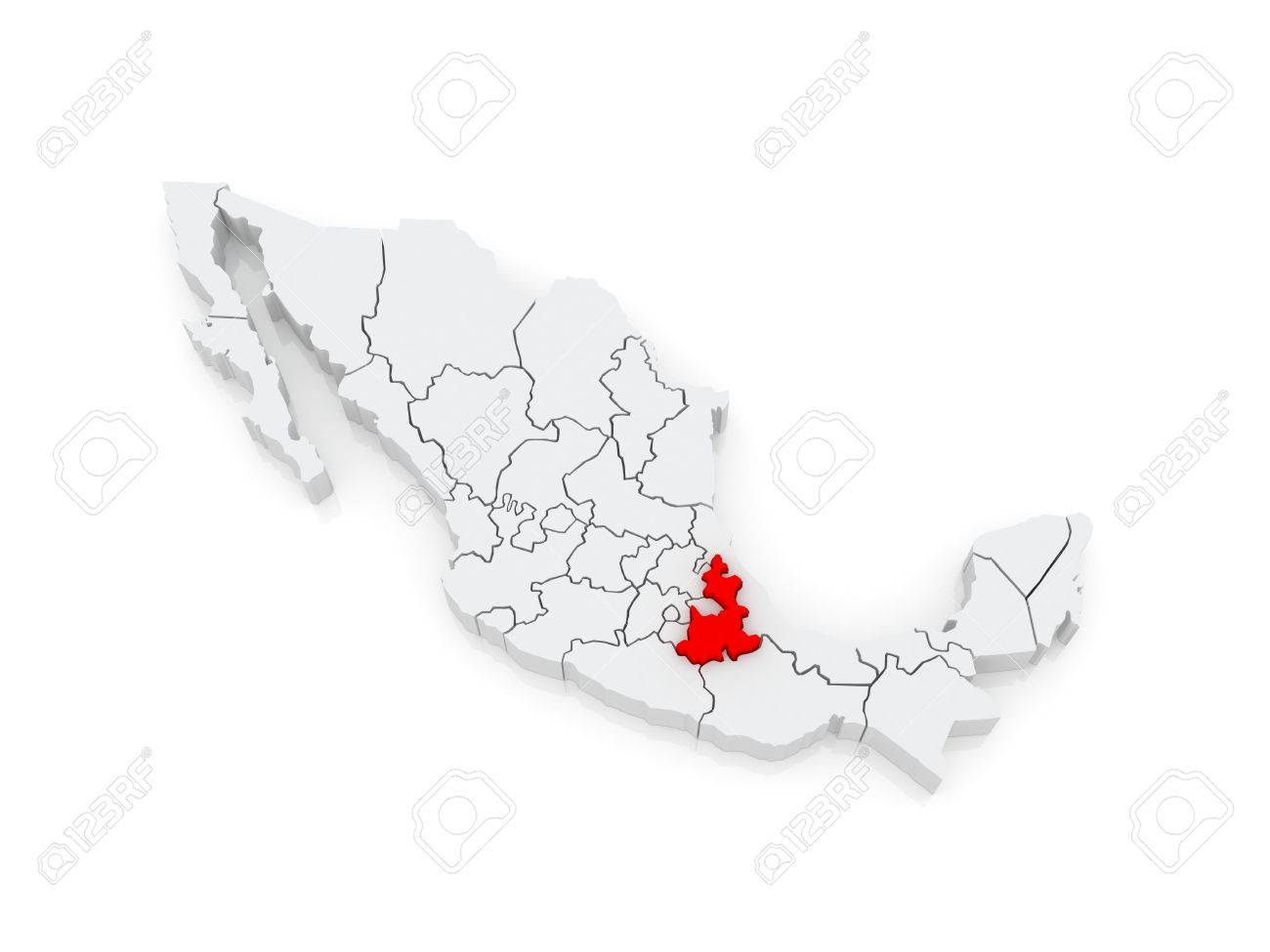 Map Of Puebla Mexico 3d Stock Photo Picture And Royalty Free