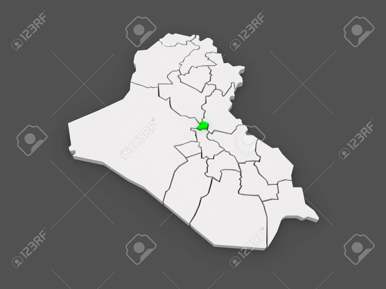 map of baghdad iraq 3d stock photo 29928847