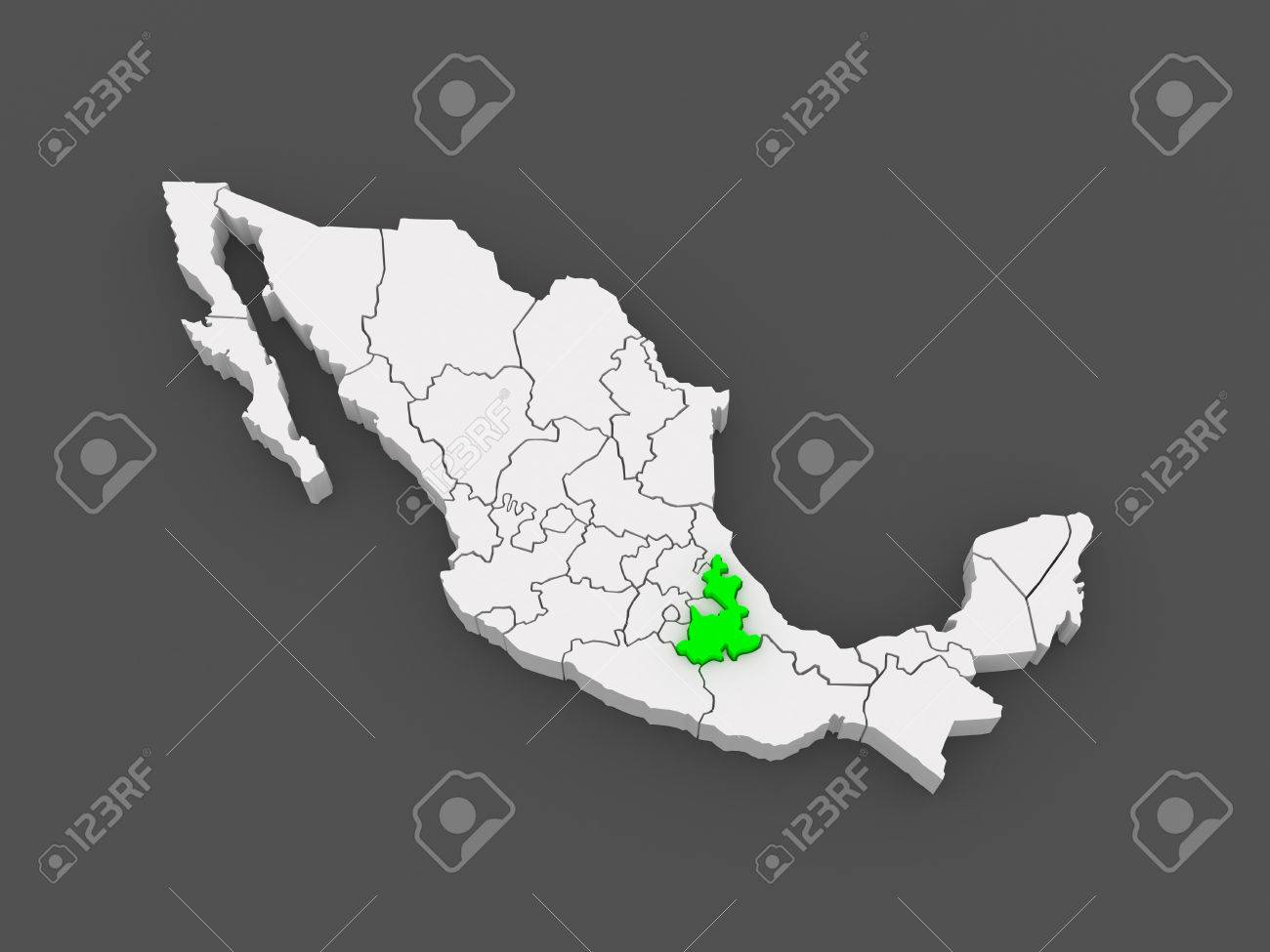 Map Of Puebla Mexico 3d Photo Picture And Royalty Free – Map Puebla Mexico