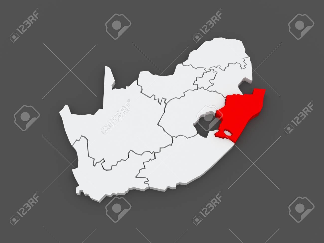 Natal South Africa Map.Map Of Kwazulu Natal Pietermaritzburg South Africa 3d Stock