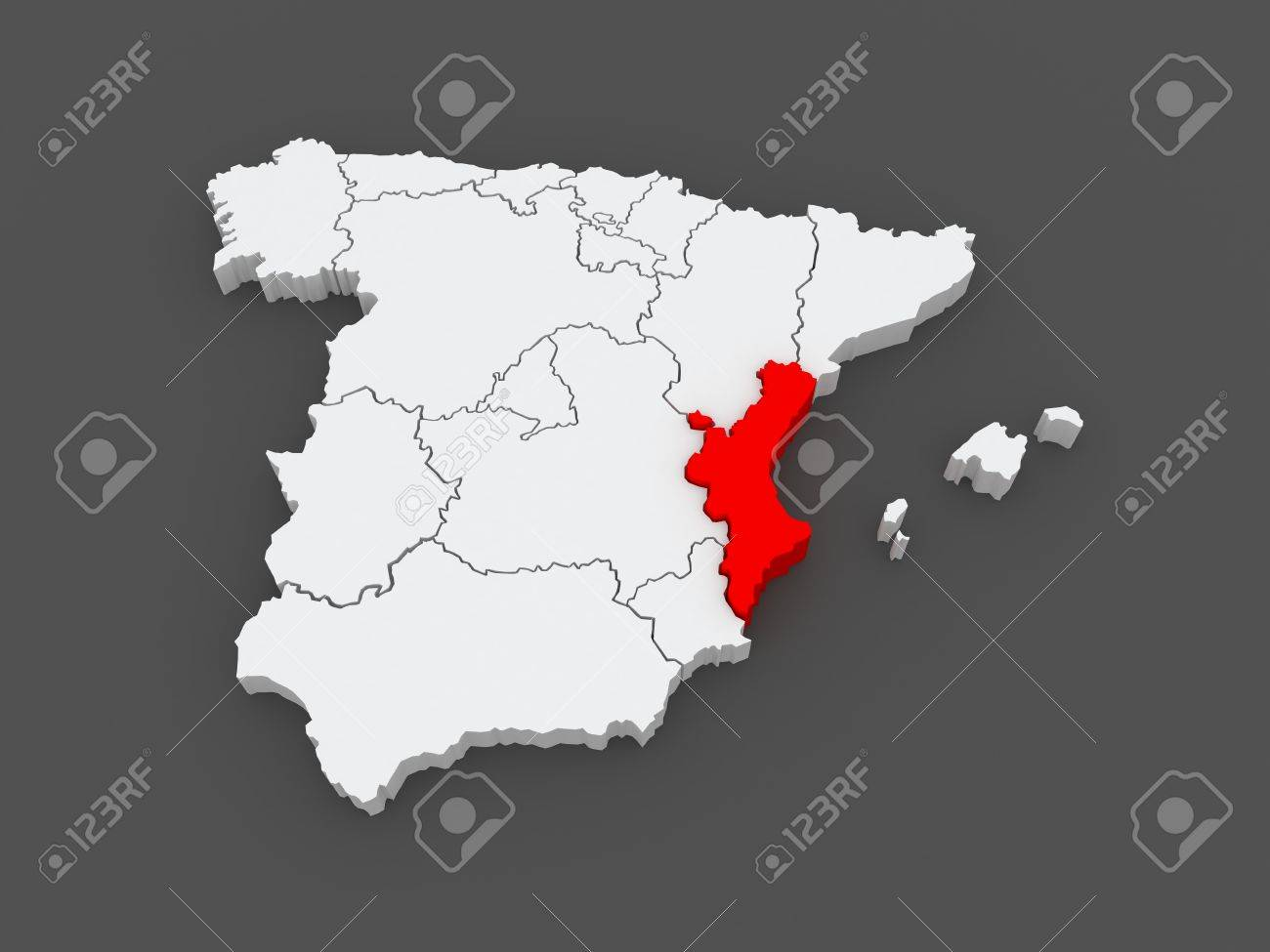 Mapa De Valencia España.Mapa De Valencia Espana 3d