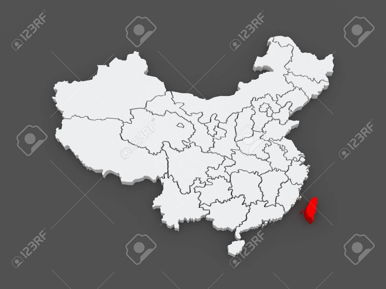 Taiwan China Map.Map Of Taiwan China 3d Stock Photo Picture And Royalty Free Image