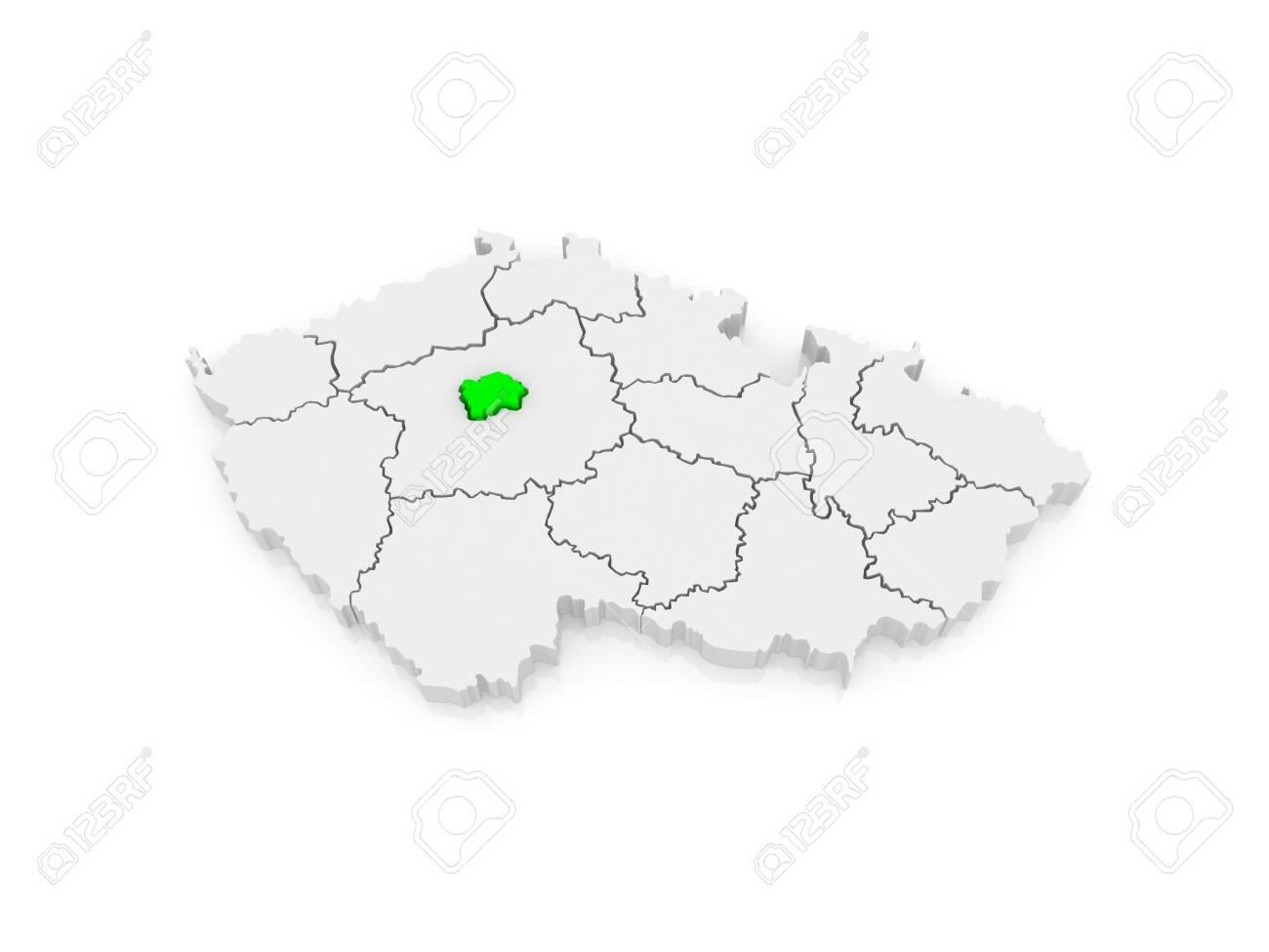 Map of Capital of Prague. Czech Republic. 3d
