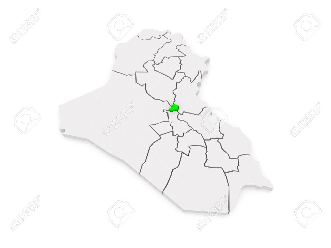 map of baghdad iraq 3d stock photo 30065976