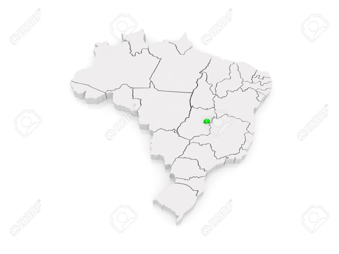 Picture of: Map Of Brasilia Brazil 3d Stock Photo Picture And Royalty Free Image Image 30066135
