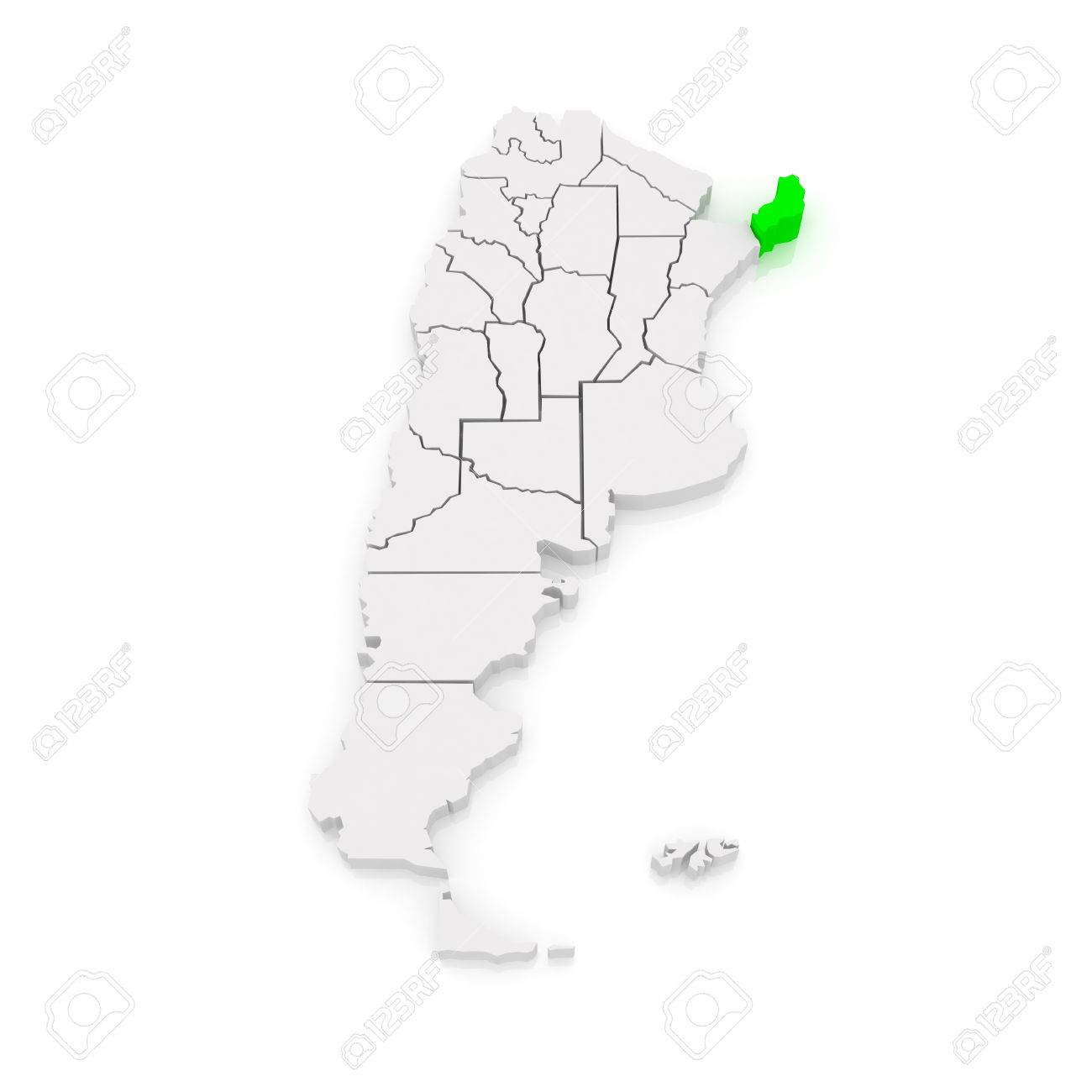 Map Of Misiones Argentina D Stock Photo Picture And Royalty - Argentina misiones map