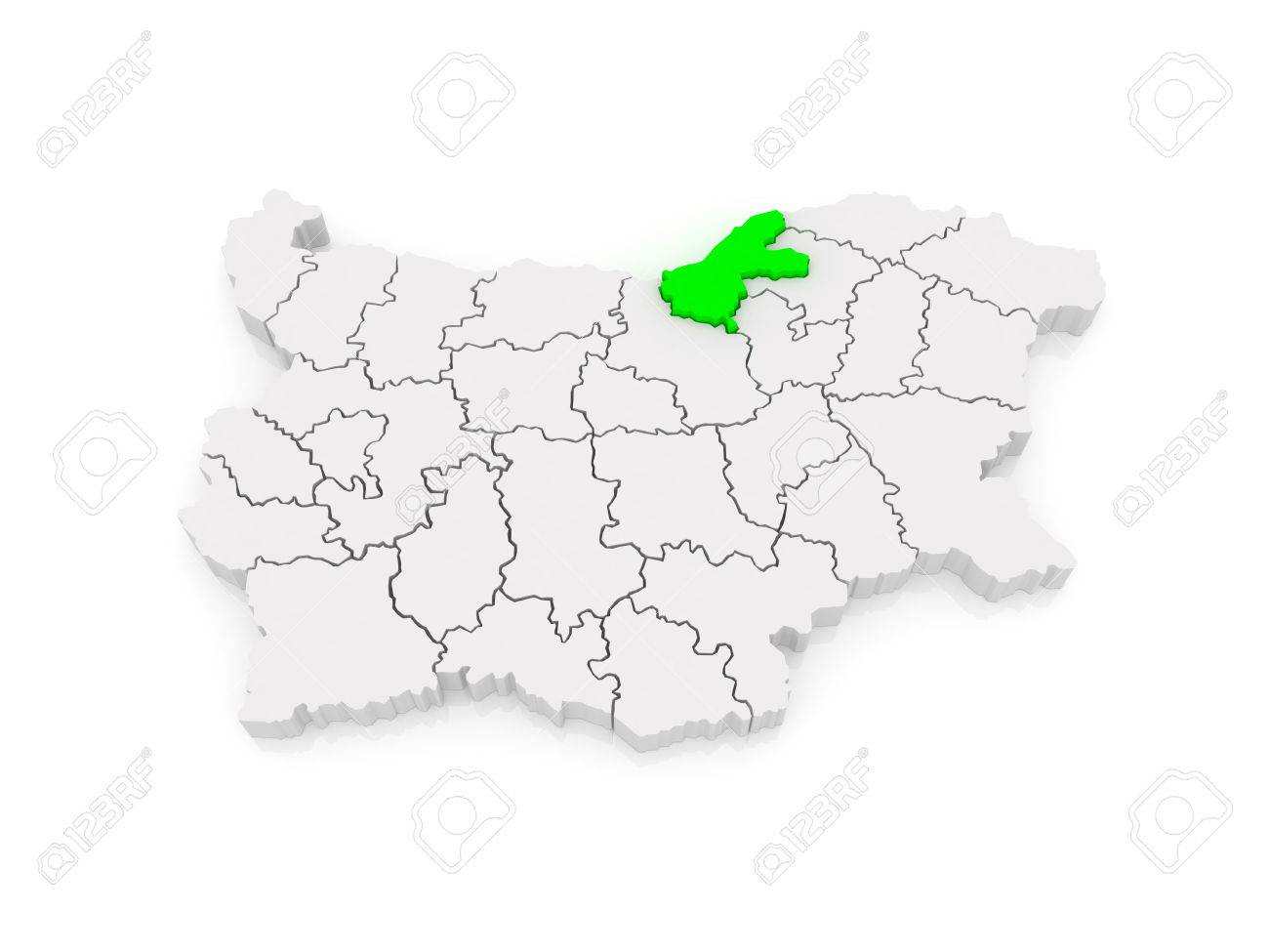 Map Of Ruse Region Bulgaria 3d Stock Photo Picture And Royalty