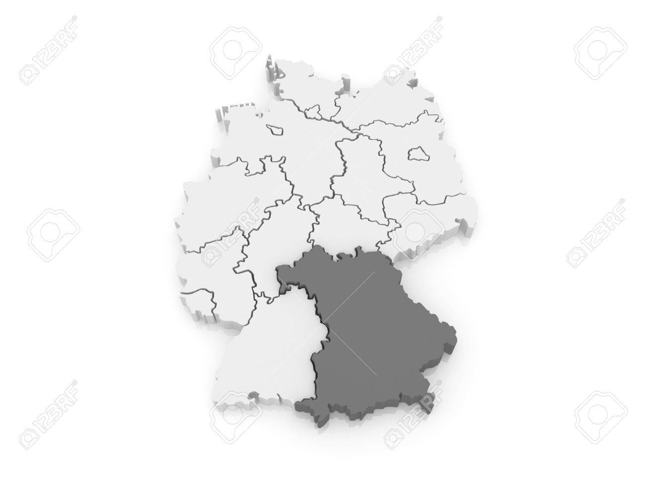 Map Of Germany Bavaria.Map Of Bavaria Germany 3d Stock Photo Picture And Royalty Free
