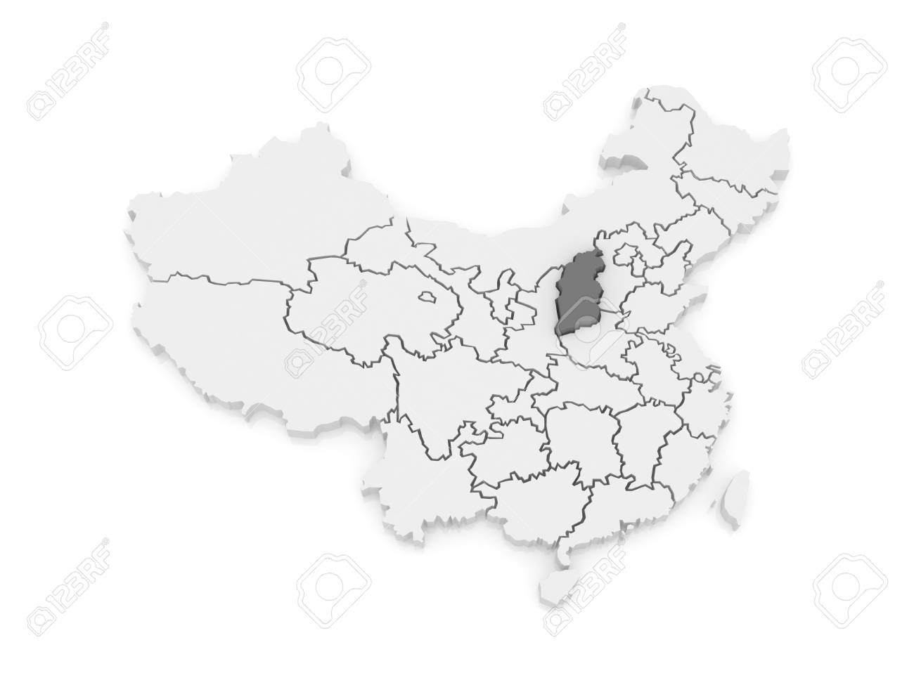 Shanxi China Map.Map Of Shanxi China 3d Stock Photo Picture And Royalty Free Image