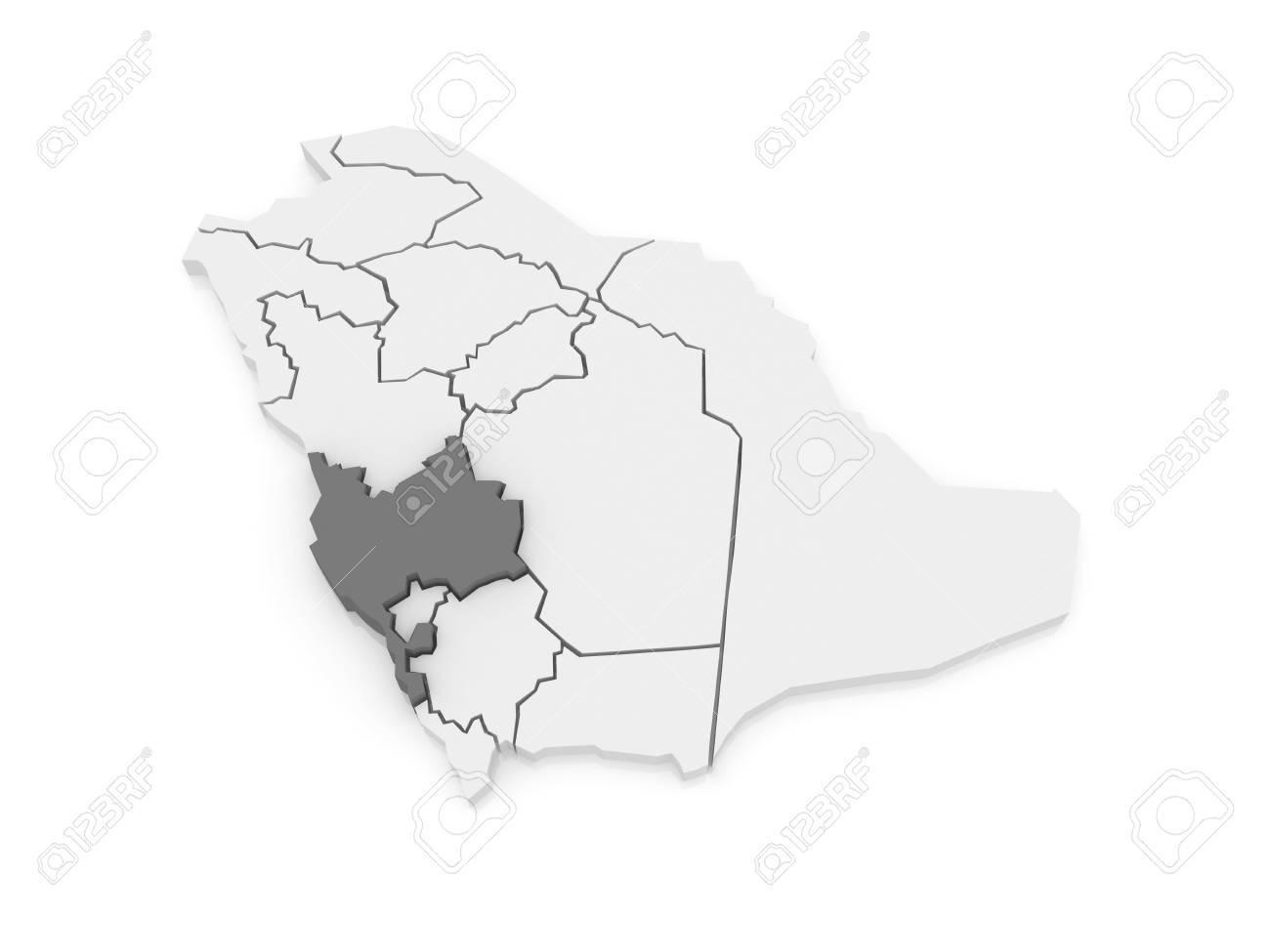 Map of Mecca  Saudi Arabia  3d