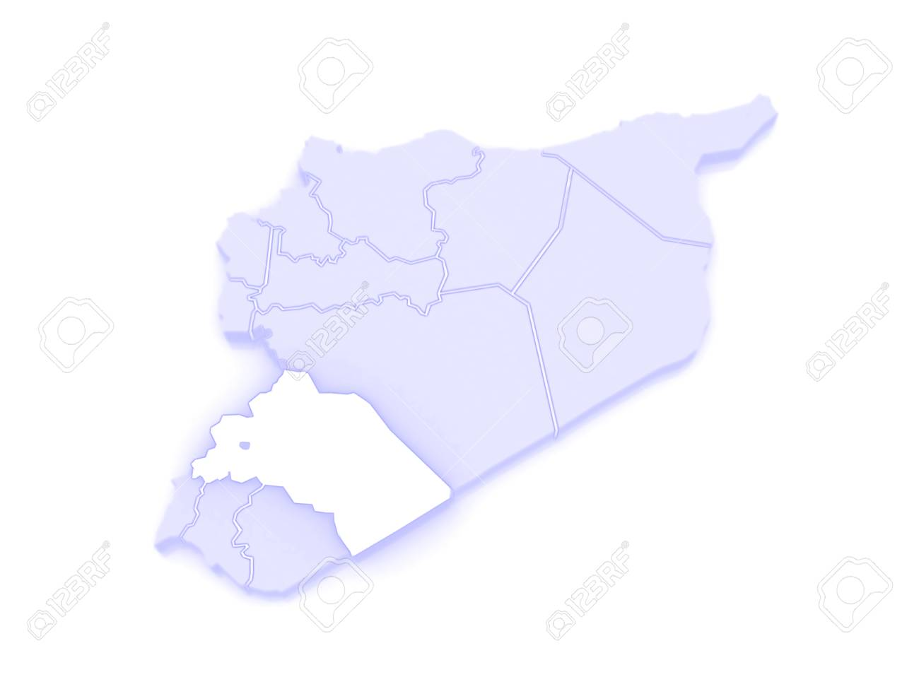 Map Of Reef Damascus. Syria. 3d Stock Photo, Picture And Royalty ...