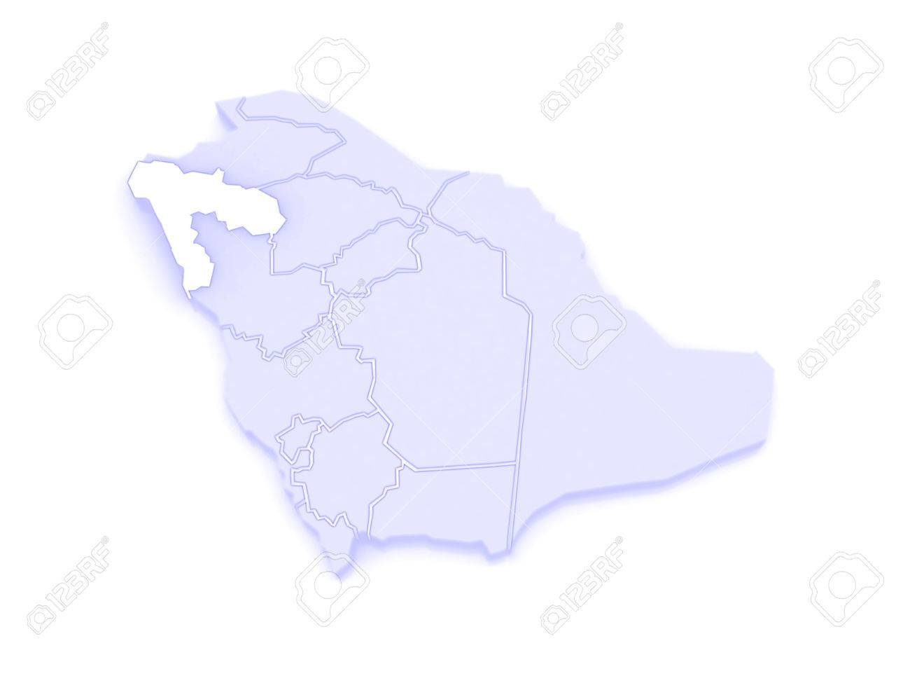 Map Of Tabuk Saudi Arabia 3d Stock Photo Picture And Royalty Free