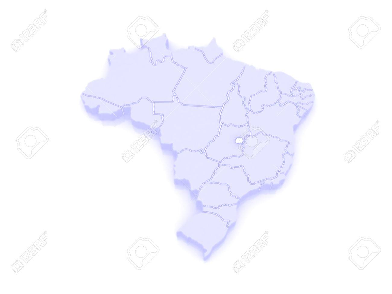 Map Of Brasilia Brazil 3d Stock Photo Picture And Royalty Free