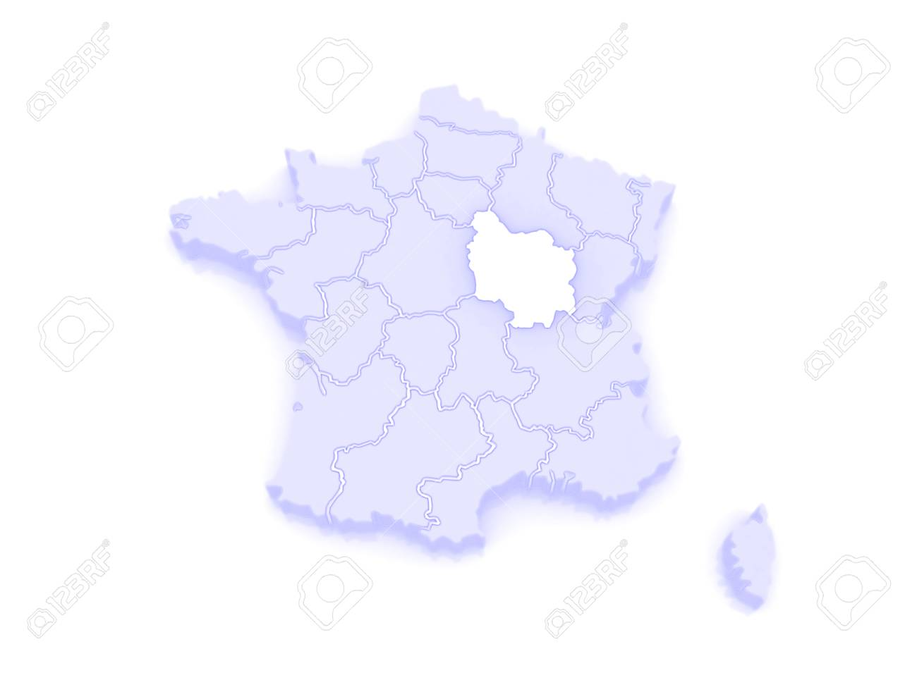 Map Of Burgundy France 3d Stock Photo Picture And Royalty Free