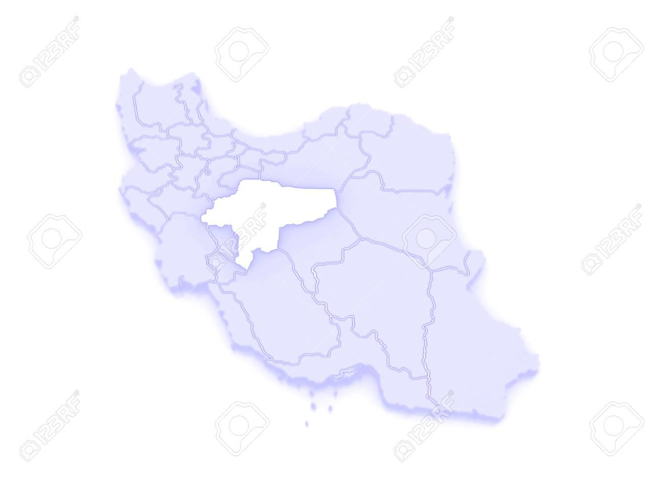 Map of Isfahan. Iran. 3d