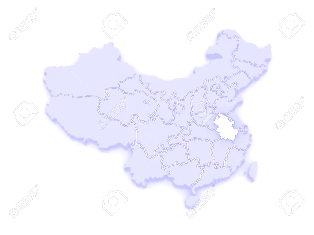 Map Of Anhui China 3d Stock Photo Picture And Royalty Free Image