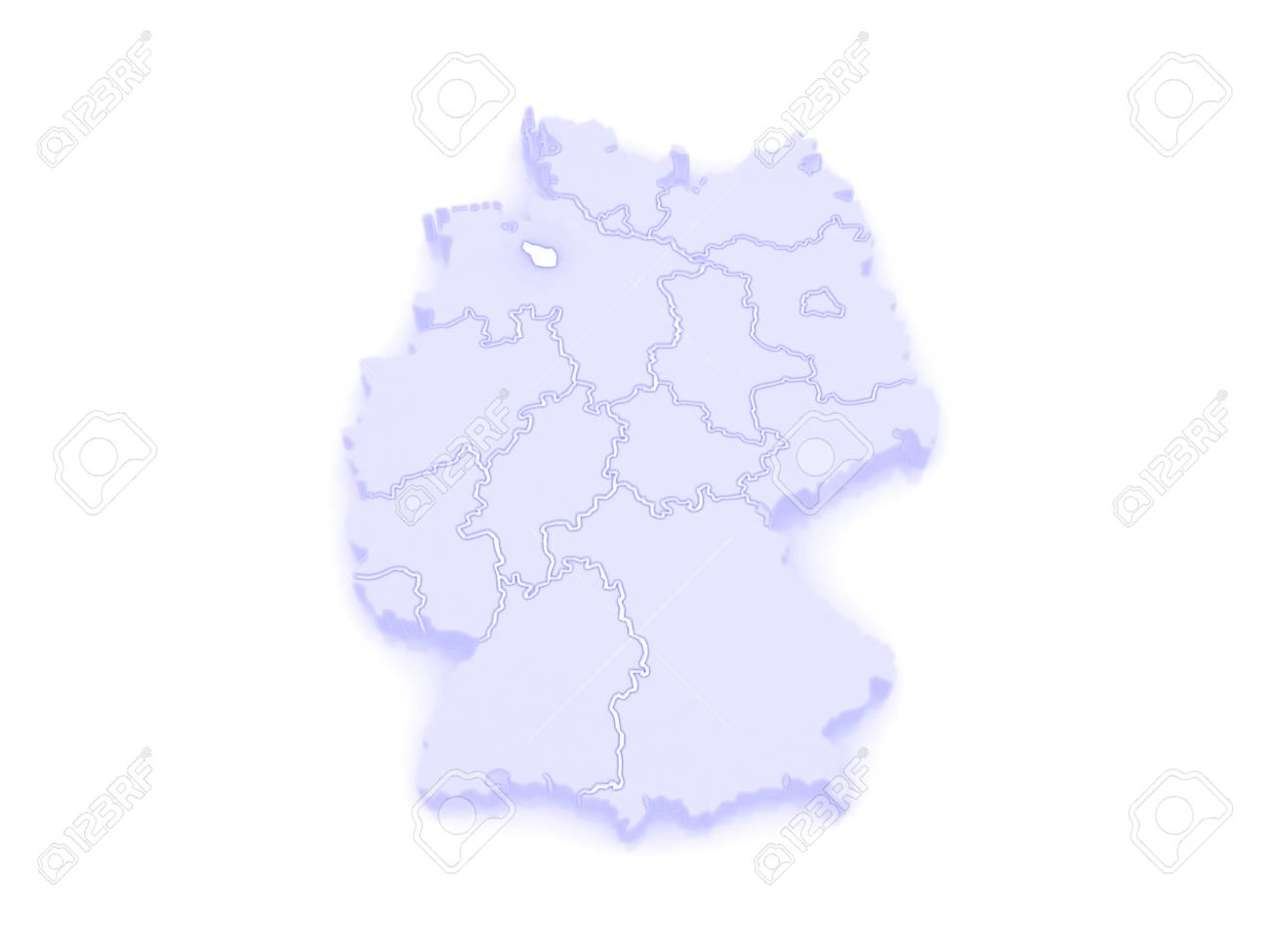 Map Of Bremen. Germany. 3d Stock Photo, Picture And Royalty Free ...