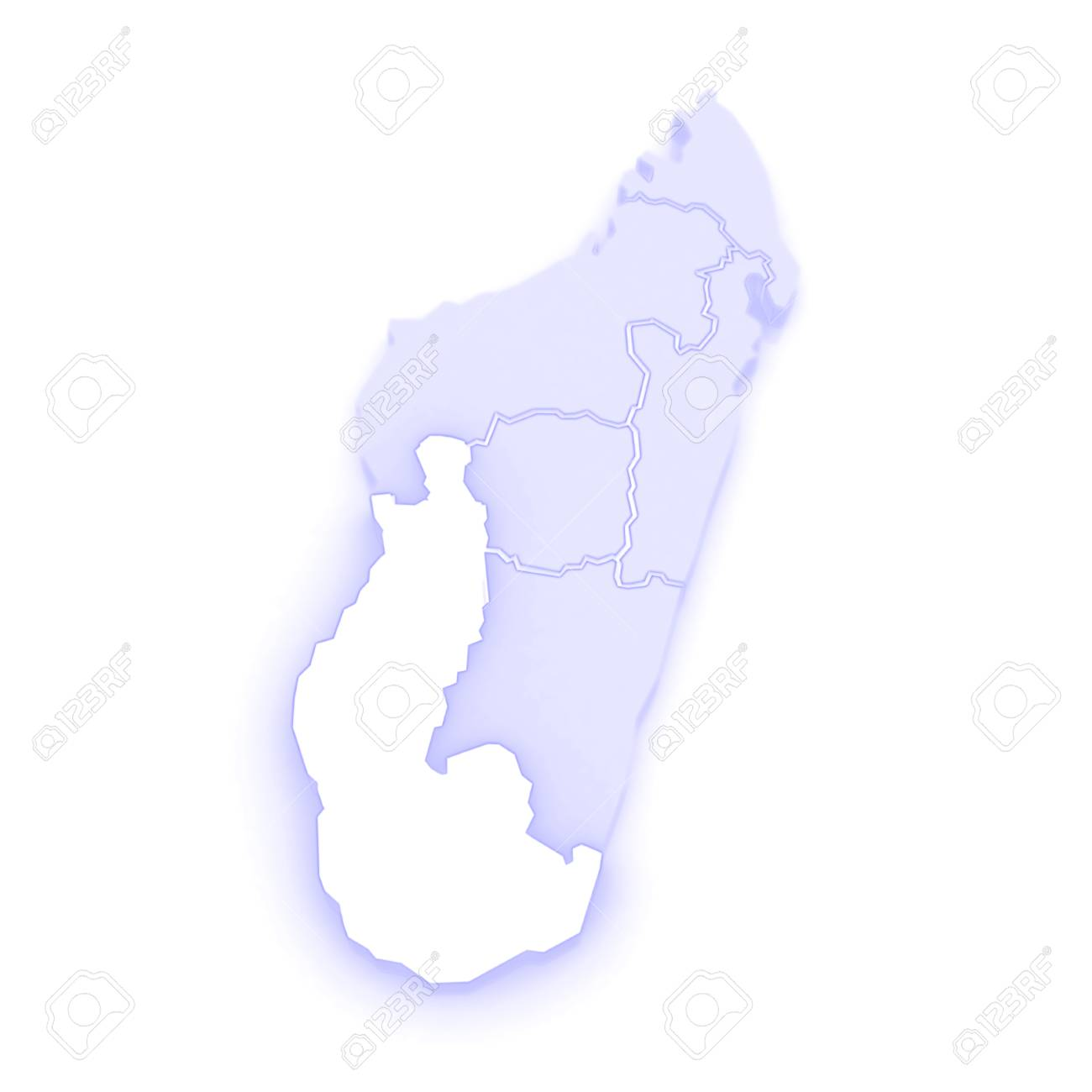 Map Of Toliara. Madagascar. 3d Stock Photo, Picture And Royalty Free ...