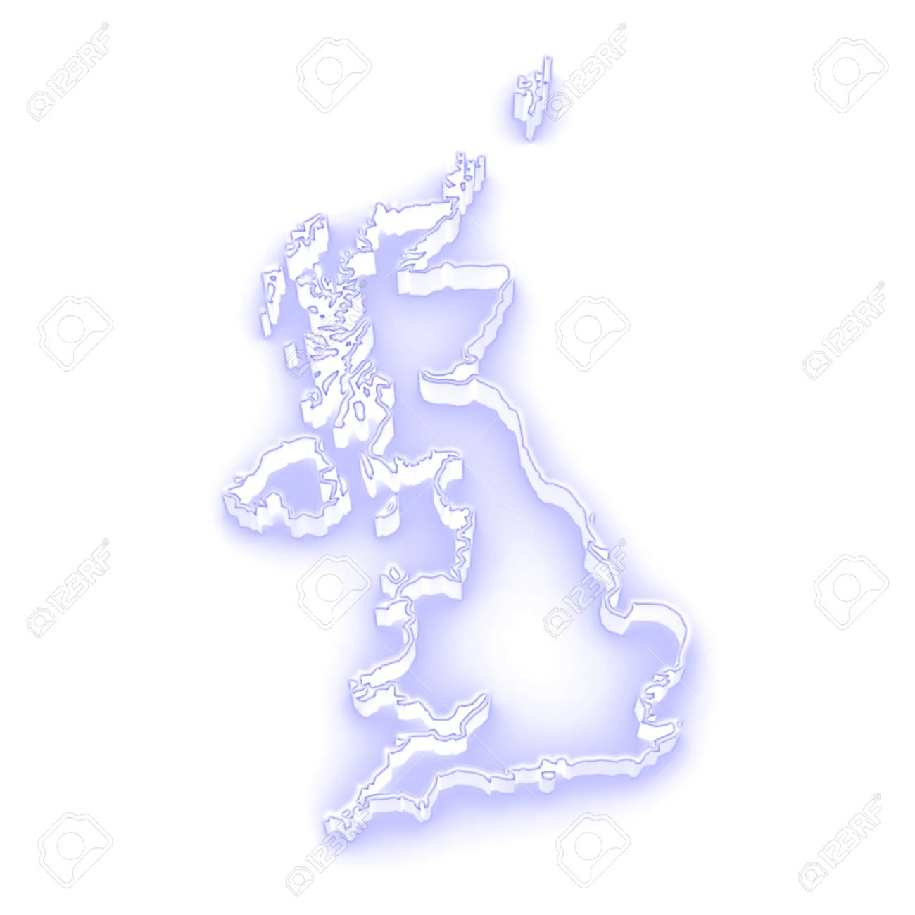 3d Map Of England.Three Dimensional Map Of England 3d