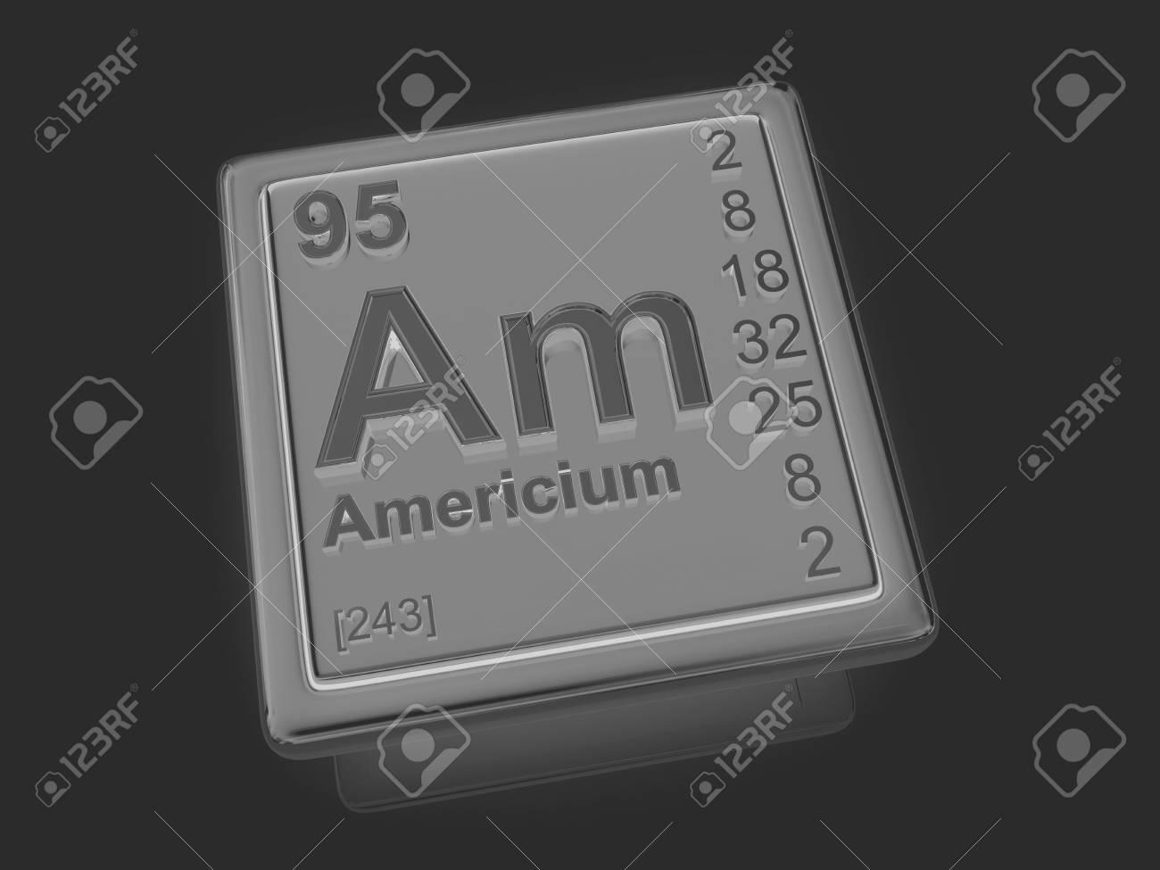 アメリシウム。化学要素。3 D の...