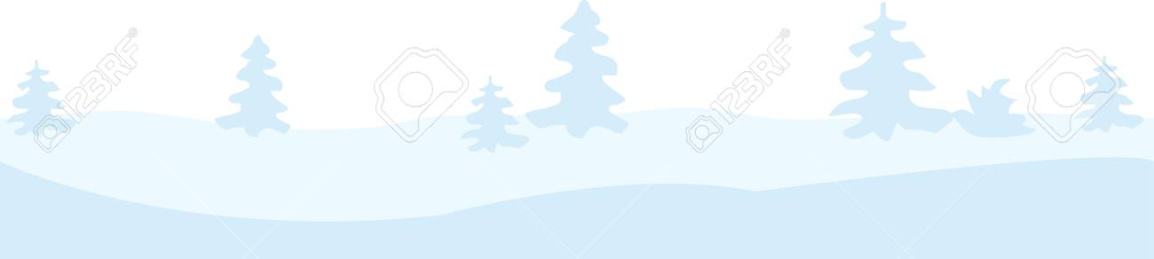 Christmas winter border with trees and snow Stock Vector - 24740280