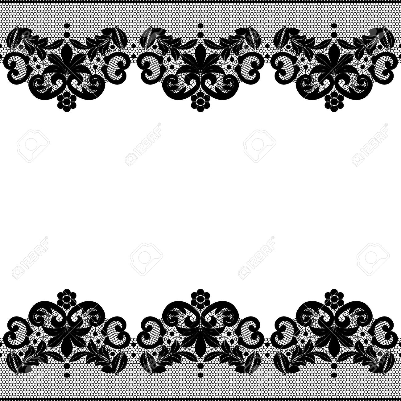 seamless black lace border with floral pattern royalty free cliparts rh 123rf com vintage lace border vector free white lace border vector