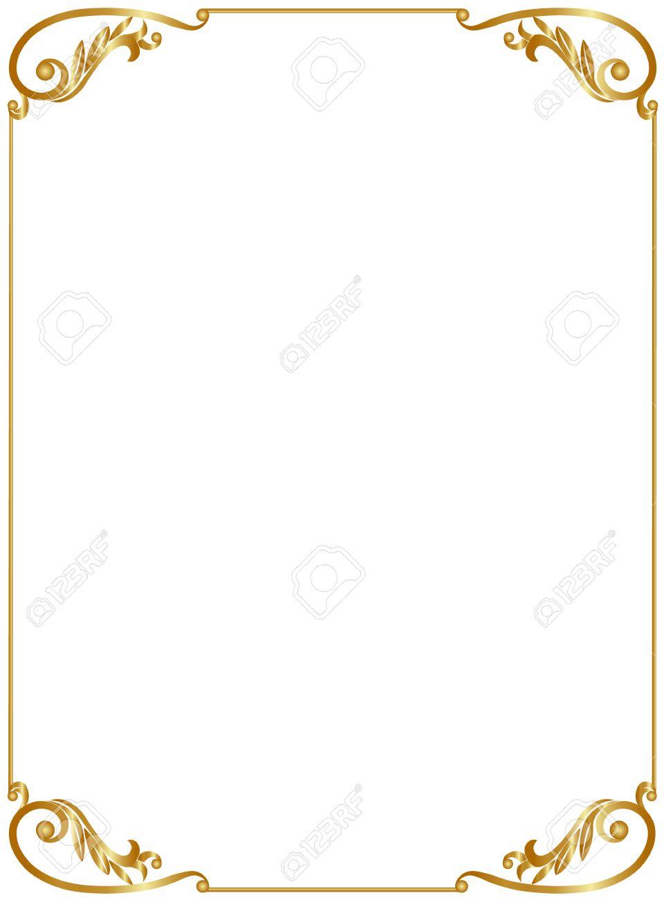 Group of Elegant Golden Frame On