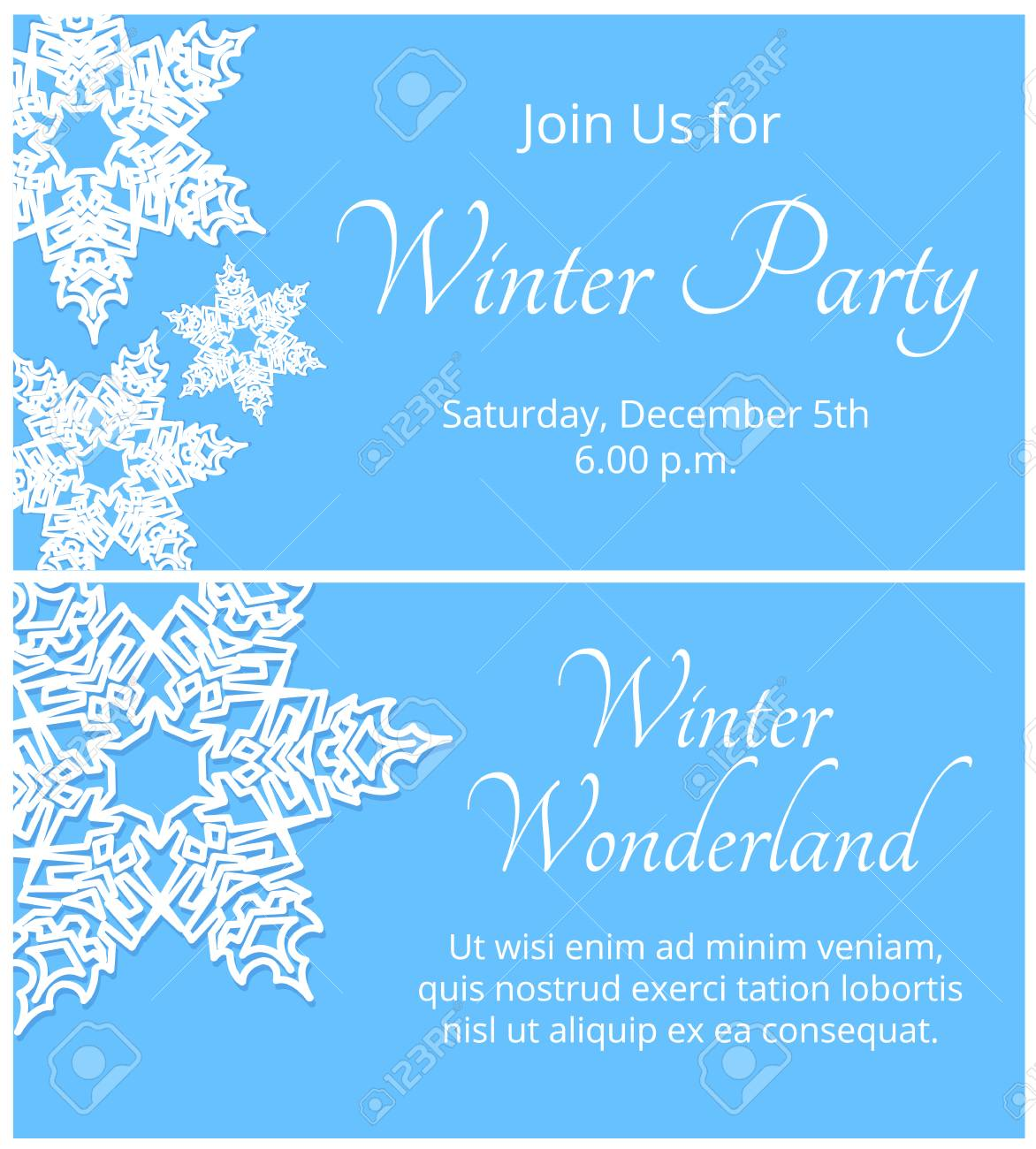 Winter Party Invitation Wpa Wpart Co