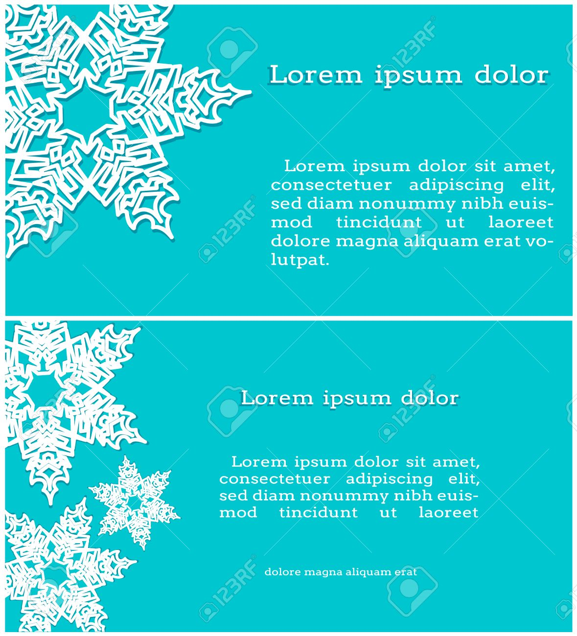 Invitation cards with snowflakes on a turquoise background royalty invitation cards with snowflakes on a turquoise background stock vector 44649383 stopboris Choice Image