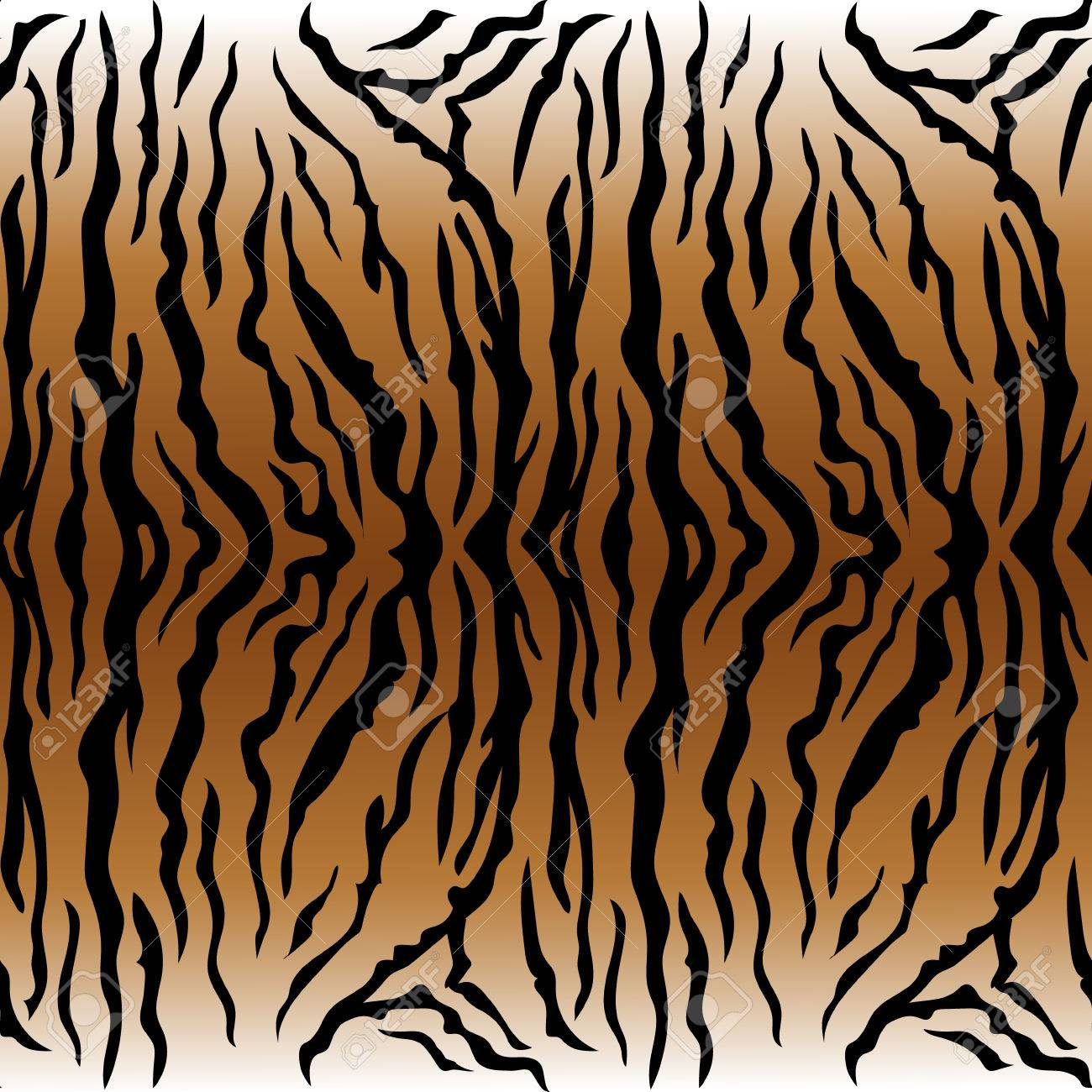 Animal Print, Tiger Texture Seamless Background Ocher Color Royalty ...