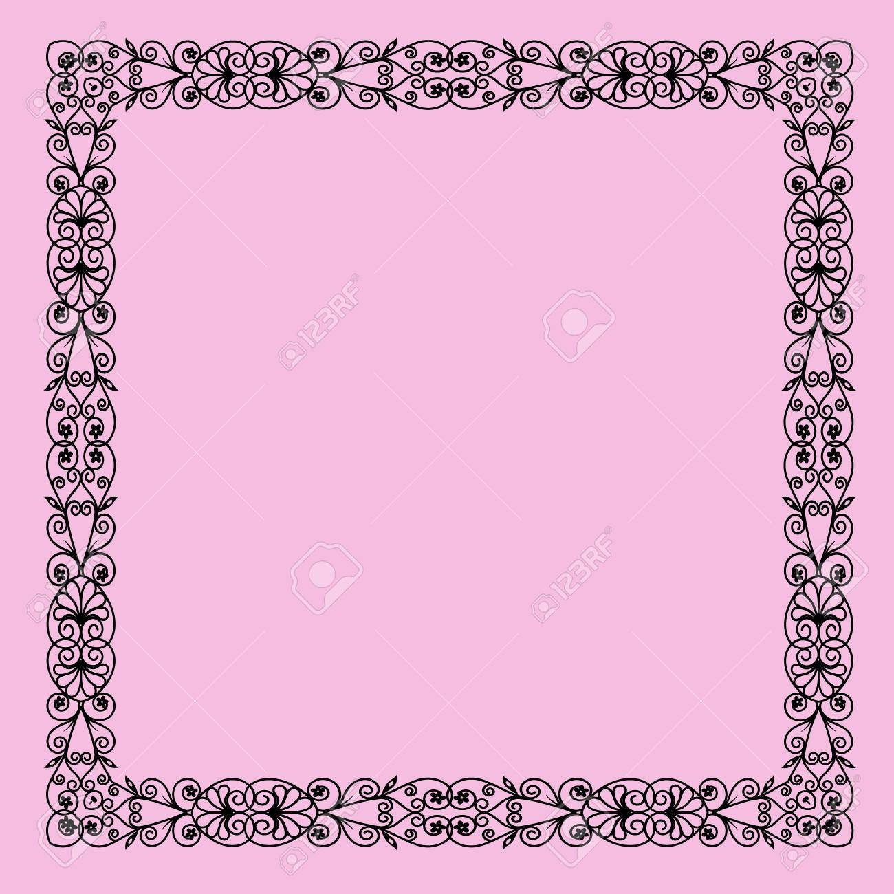 elegant black lace frame on a pink background royalty free cliparts vectors and stock illustration image 114351757 elegant black lace frame on a pink background