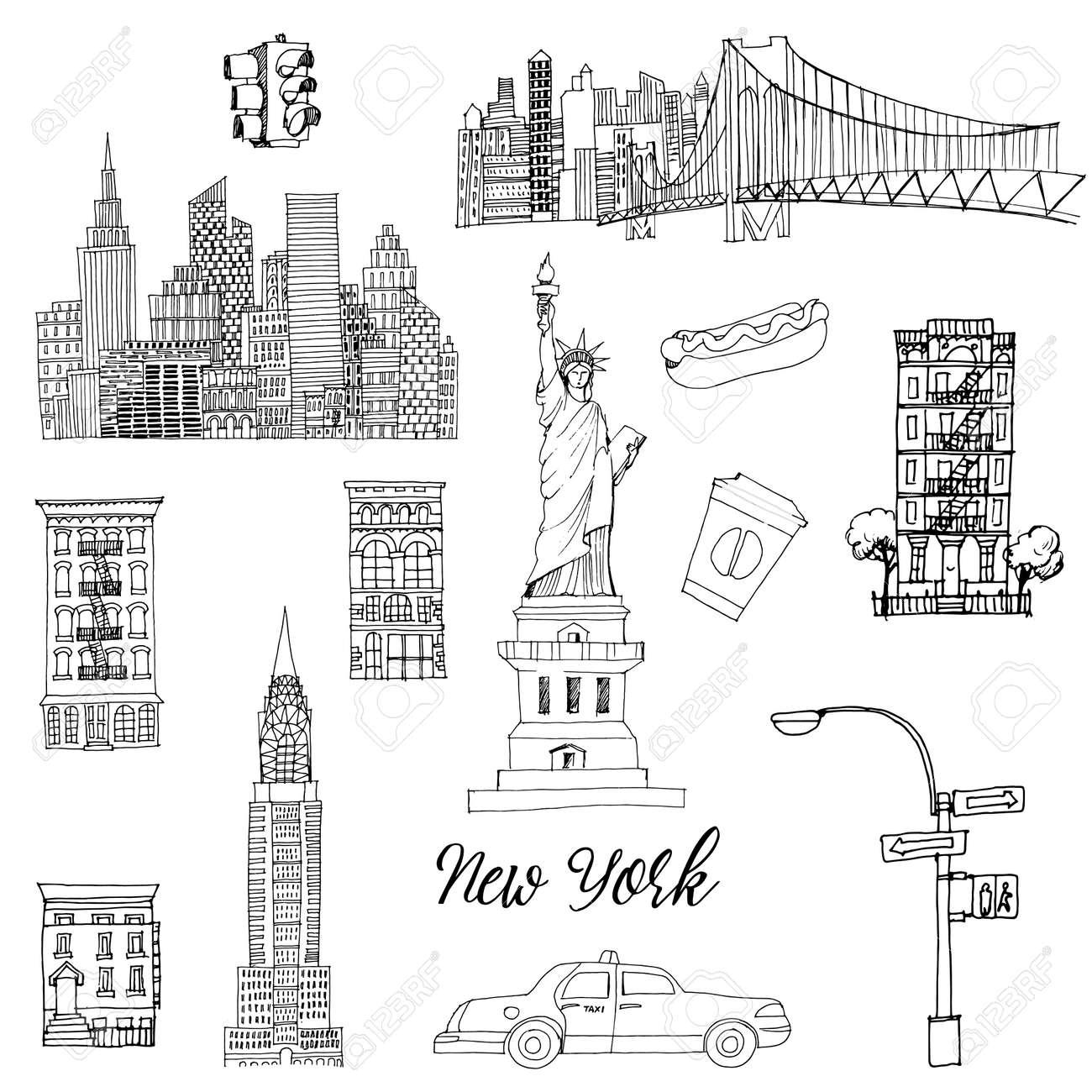 New York setr. Vector sketch - 159570312