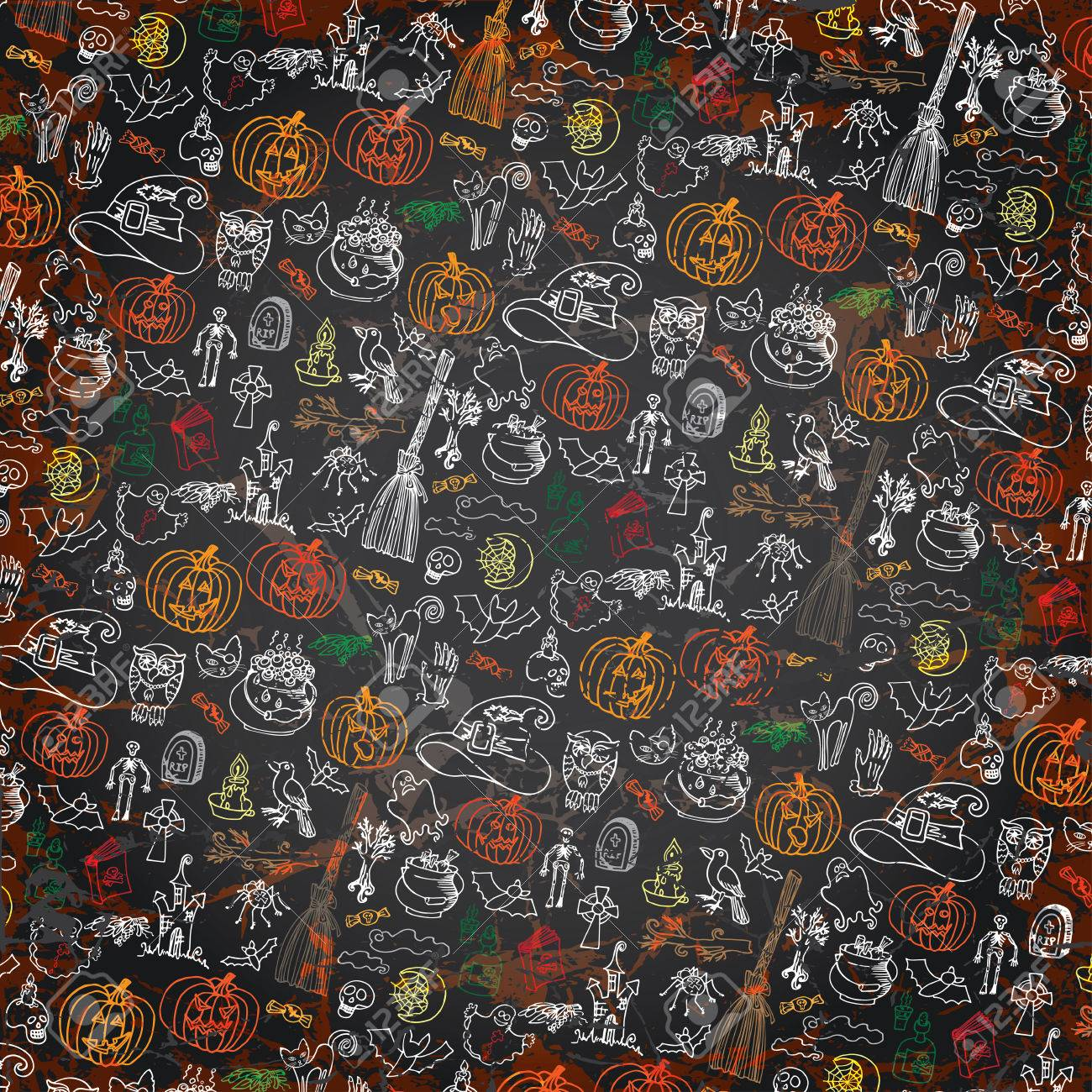 Simple Wallpaper Halloween Grunge - 32133401-halloween-doodles-icons-pattern-background-hand-drowing-sketchy-on-chalkboard-in-the-style-of-childr  Perfect Image Reference_44654.jpg