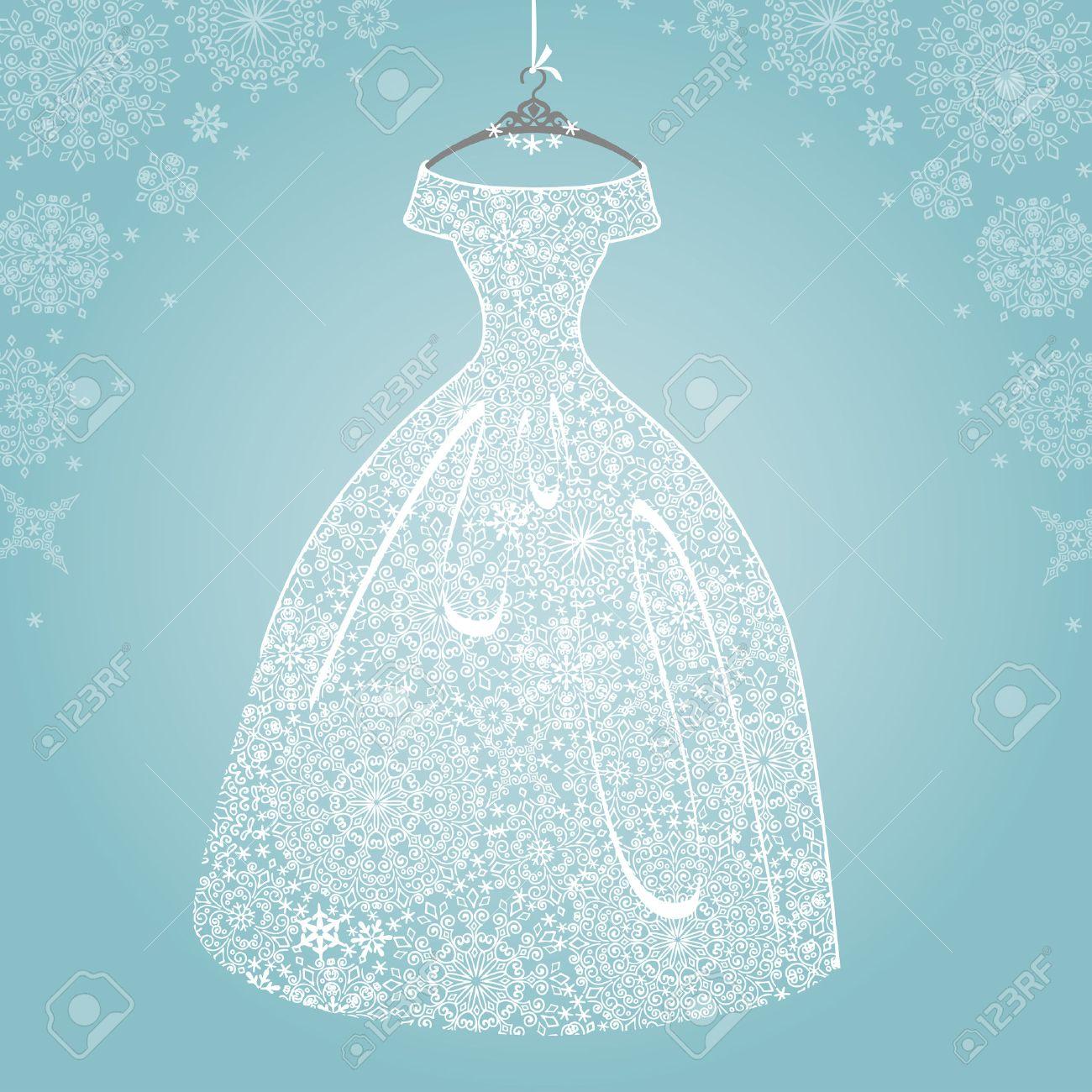 Bridal dress.Wedding snowflake lace - 34104070