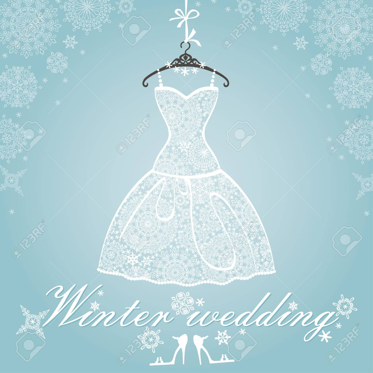bridal shower dresswinter invitation cardopenwork wedding dresssnowflakes lace fabric