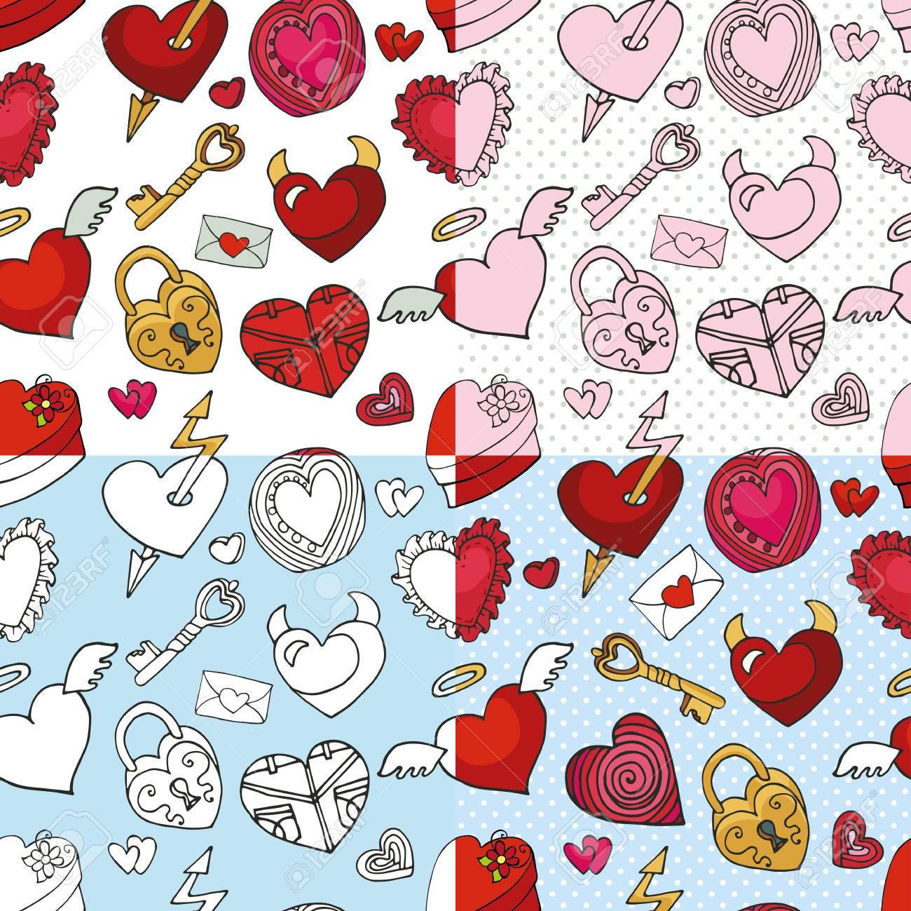 Valentines Day Wedding Love Romantic Hearts Decor Elements In