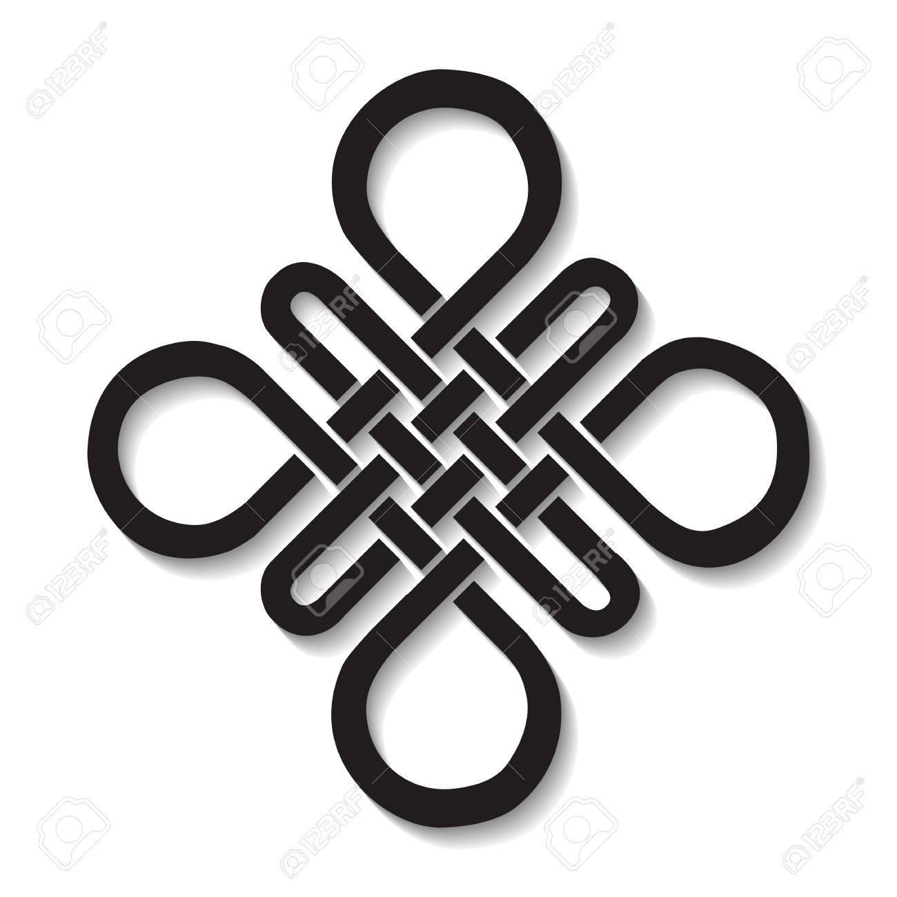 Endless Auspicious Knot Chinatibet Eternal Buddhism And