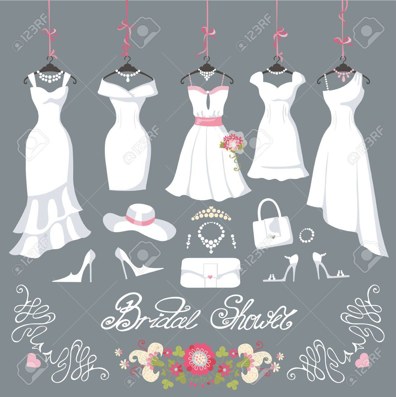 Wedding Dresses Hanging.Fashion Bride Short Dress Made In Flat ...