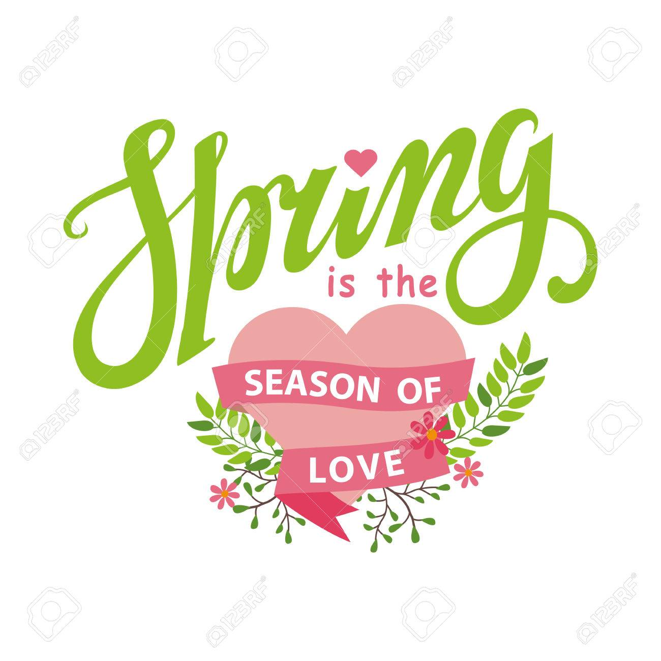 Spring season cardposternctor title season of lovertoon vector title season of lovertoon flower kristyandbryce Image collections